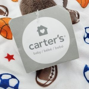 Carter's Bedding - New Carter's Lovey Baby Security Blanket Football